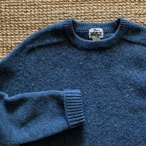 Vintage Woolrich blue wool sweater 3099